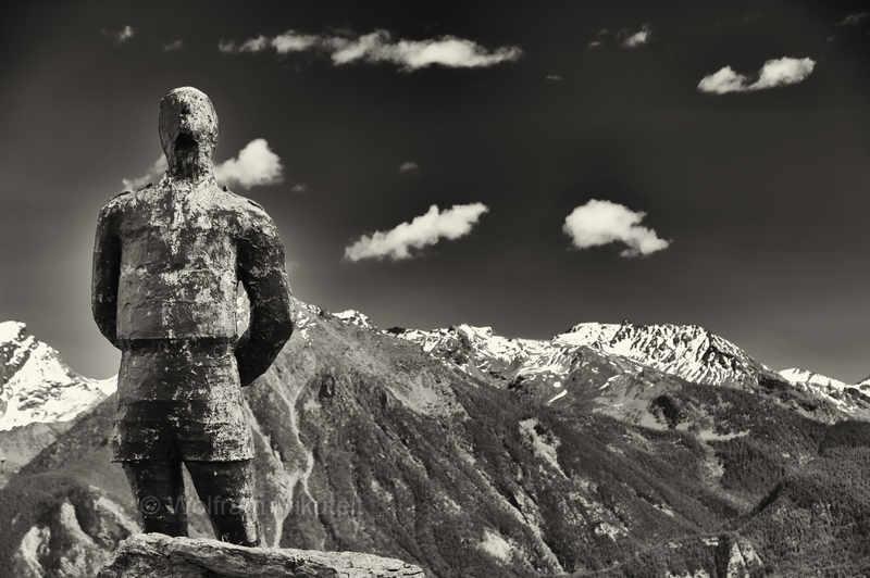 Monumento Partigiano in Trois Villes, Aostatal - Foto: © Wolfram Mikuteit