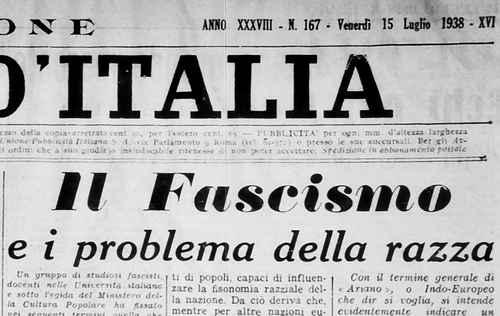 Il Popolo d'Italia - Ausgabe vom 15. Juli 1938
