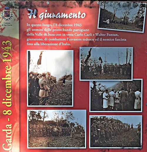 """8. Dezember 1943 - der """"Schwur von Garda"""" - die Geburtsstunde der Resistenza im Susatal - Foto: © Wolfram Mikuteit"""