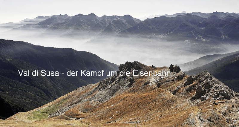 Blick über das Susatal, im Hintergrund der Monviso - Foto: © Wolfram Mikuteit